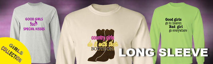 Girls Long Sleeve T-Shirts