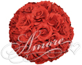 Red Silk Pomander Kissing Ball Wedding 8 inches