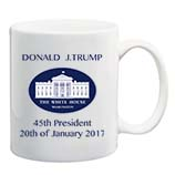 White House Donald J.Trump USA 45th Presidential Inauguration Mug