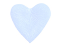 Sky Blue Silk Rose Petals Heart Shaped Wedding 2000