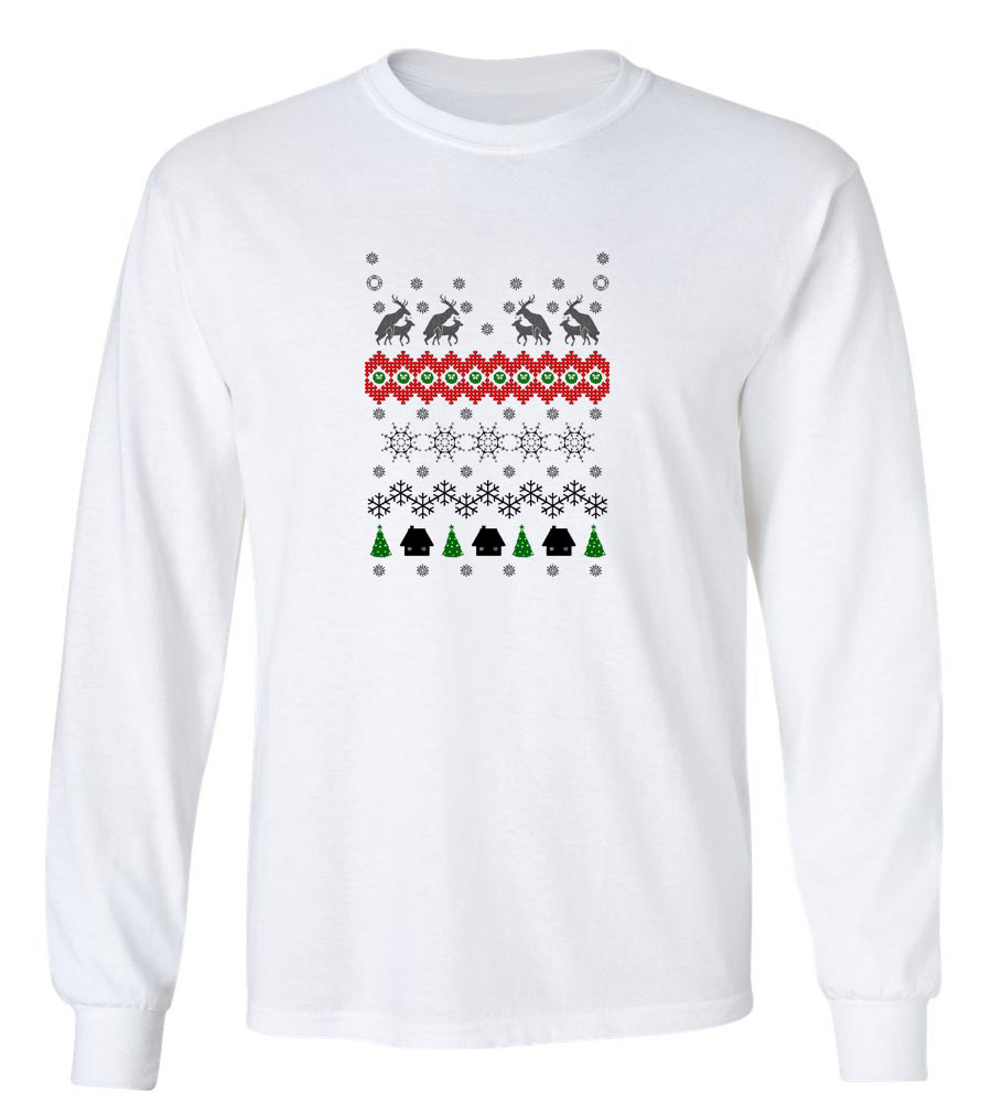 Reindeer Humping Merry Christmas Long Sleeve T-Shirt