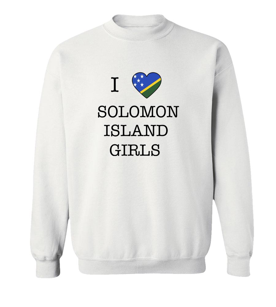 I love Solomon Island Girls Crew Neck Sweatshirt