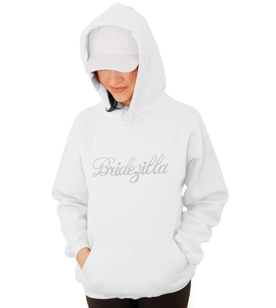 Bridezilla Rhinestones Wedding Hooded Sweatshirt