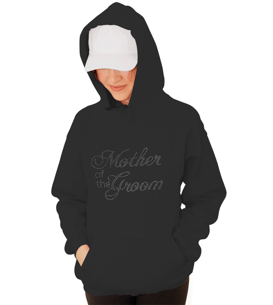 Mother of the Groom Rhinestones Wedding Hooded Sweatshirt