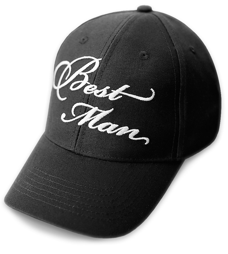 Best Man Wedding Baseball Cap Black