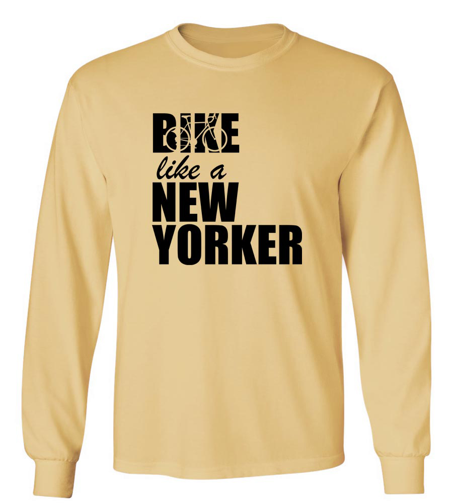 Bike Like A New Yorker Long Sleeve T-Shirt